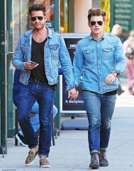 Nate and Jeremiah: denim on denim