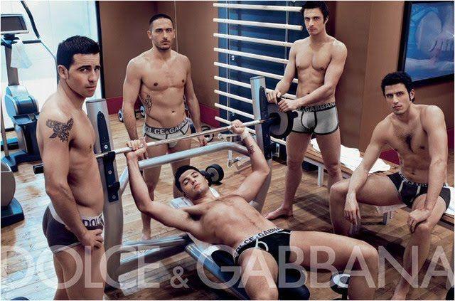Italian Soccer team gay style dolce gabbana underwear