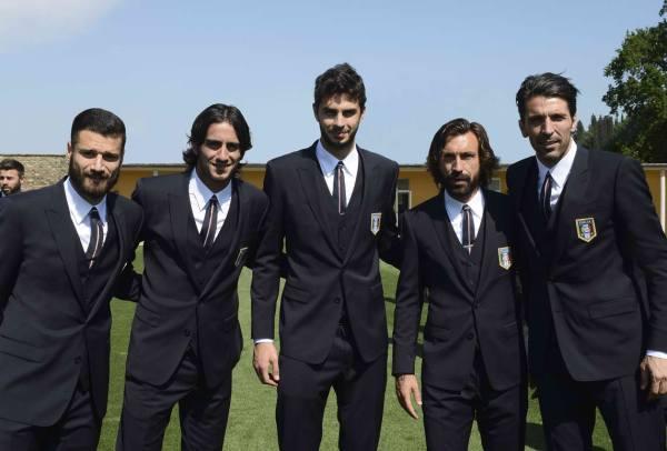 Italian Soccer team gay style dolce gabbana